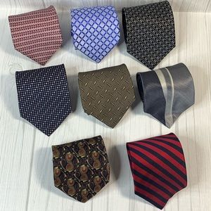 Other - 8 Designer men's Neck Ties bold and power